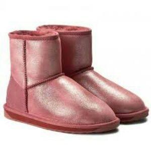 Emu Stinger Metallic Rust Sheepskin Boots Sz 7